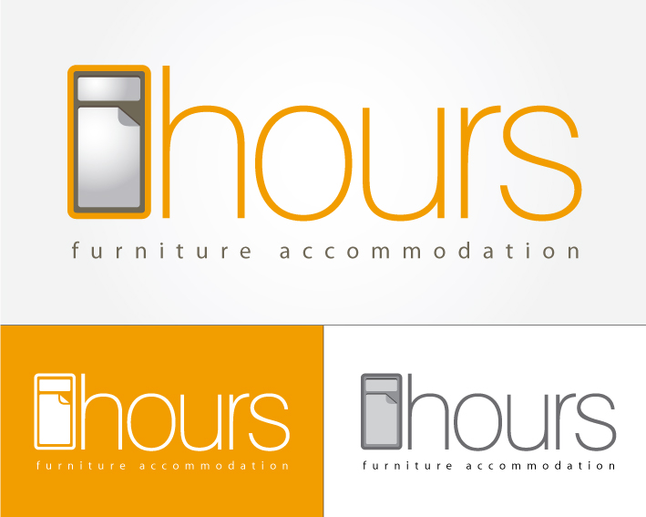 8 hours furniture accomodation logótervezés