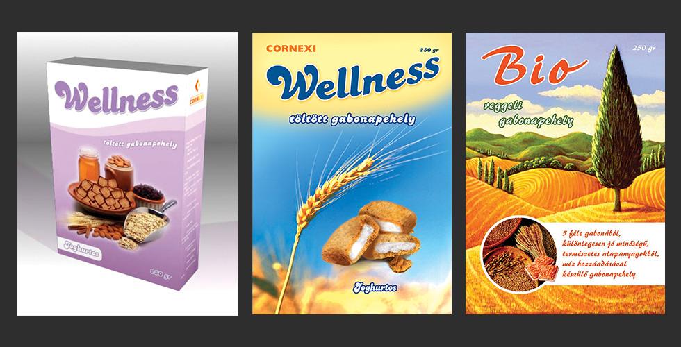 Cornexi Wellness csomagolástervezés