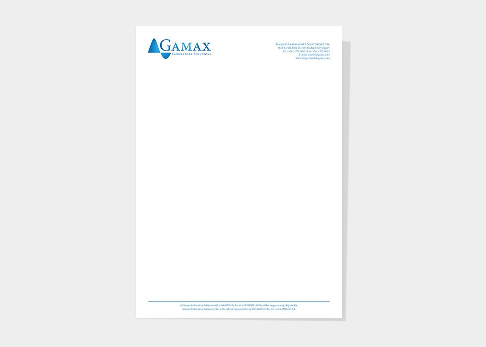 Logótervezés, kisarculat: Gamax Kft. Gamlab