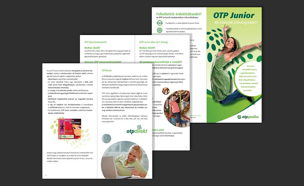 Hirdetések, szórólapok tervezése: OTP Bank arculatváltás