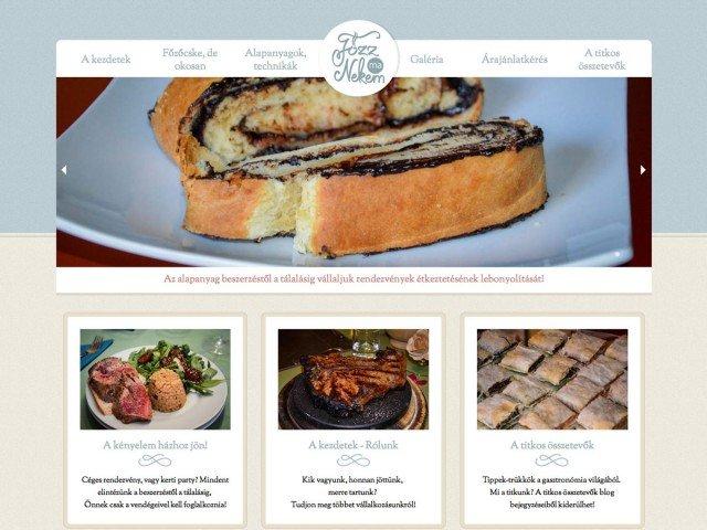 Weboldaltervezés: Főzz ma nekem vendéglátás, rendezvény, catering szolgáltatás