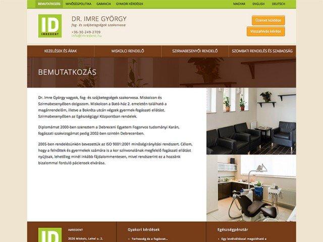 WordPress webdesign - Imredent