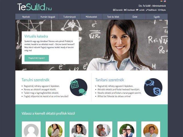 Online oktatás weboldal fejlesztés