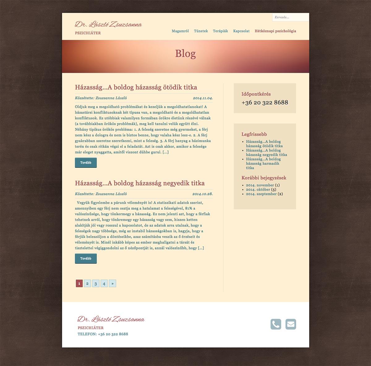 Wordpress webdesign - miskolci pszichiáter