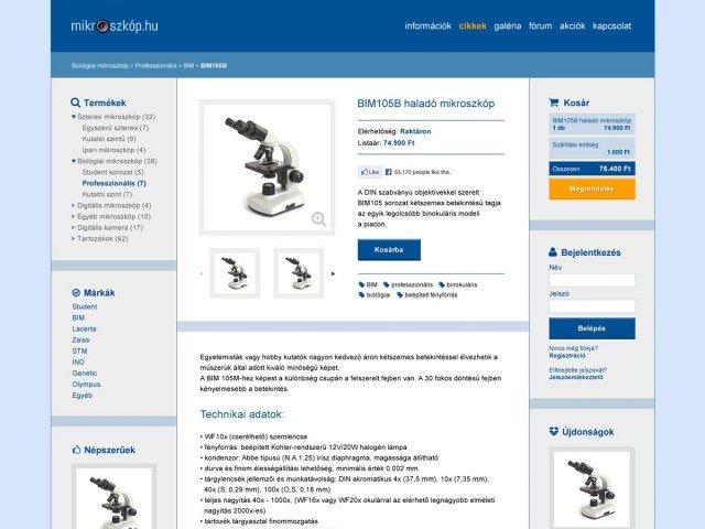 Weboldaltervezés a mikroszkop.hu számára