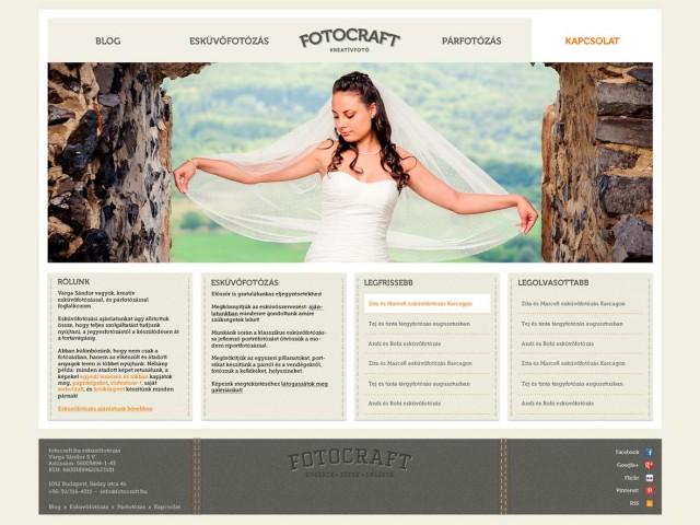 Fotocraft kreatívfotó weboldaltervezés