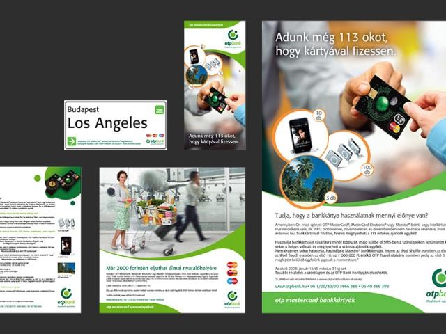 Szórólapok, sajtóhirdetések, plakátok, DM levelek: OTP Bank Mastercard és AMEX